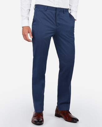 Express Classic Blue Diamond Weave Stretch Dress Pant