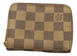 Louis Vuitton Zippy Ecru Cloth Purses, wallets & cases