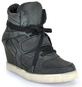 Ash Cool Ter- Black Leather Hi Top Sneaker