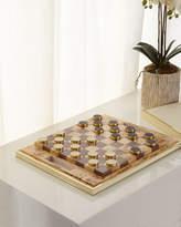 AERIN Shagreen Checkers Set, Cream