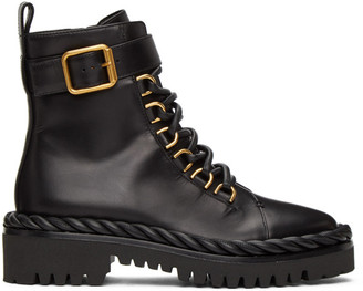 Valentino Black Garavani Lace-Up Boots