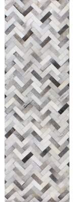 Ash Trent Austin Design Morrison Chevron Handmade Flatweave Leather Area Rug Trent Austin Design Rug Size: Rectangle 5' x 8'
