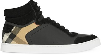 Burberry House Check high-top sneakers