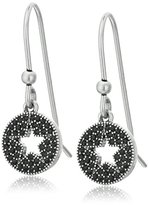 Marc Jacobs Pave Star Jet/Antique Silver Charms Earrings
