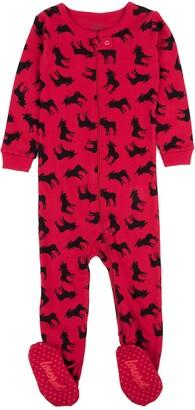 Leveret Moose Print Footed Pajama Sleeper