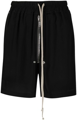 Rick Owens Side-Slit Drawstring Shorts