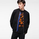 Paul Smith Men's Black Organic-Cotton Jersey Bomber Jacket