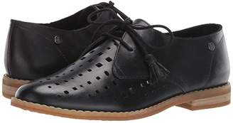 Hush Puppies Chardon Perf Oxford (Black Leather) Women's Shoes