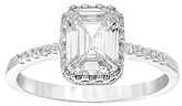 Bliss Sterling Silver & Cubic Zirconia Asscher Cut Ring