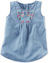 Carter's Embroidered Chambray Cotton Tunic, Toddler Girls (2T-4T)
