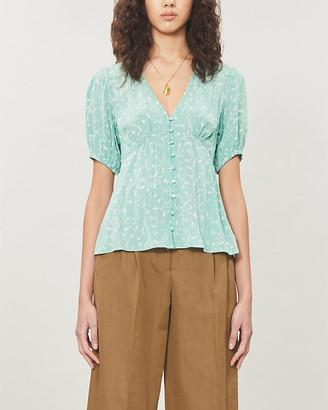 Samsoe & Samsoe Petunia floral-print crepe blouse