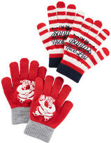 Osh Kosh 2-Pack Santa Gloves