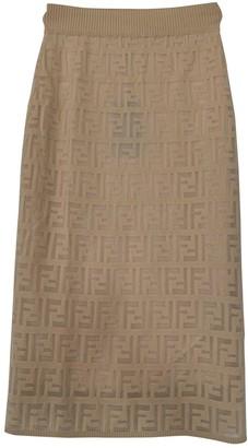 Fendi Beige Cotton Skirt for Women