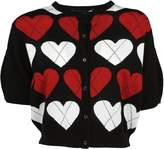Love Moschino Heart Knitted Cropped Cardigan