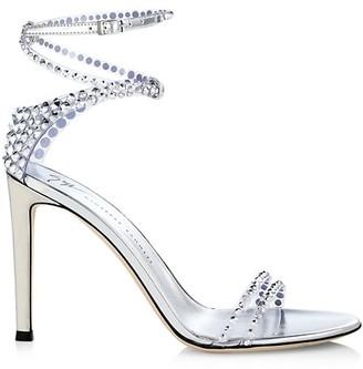Giuseppe Zanotti Catia Ankle-Wrap Crystal-Embellished PVC Sandals