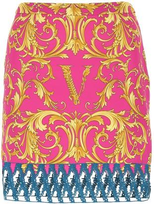 Versace Baroque Printed Mini Skirt