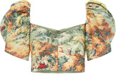 Alice McCall Voodoo Skies Jacquard Crop Top