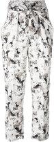 Max Mara beige printed trousers