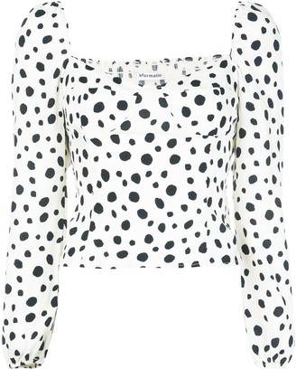 Reformation Reign ink-blot blouse