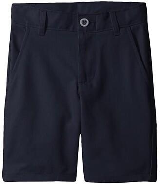 Nautica Slim Flat Front Twill Shorts (Little Kids/Big Kids) (Navy) Boy's Shorts