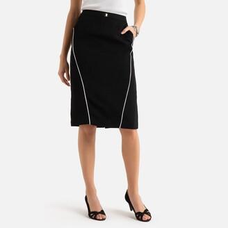 Anne Weyburn Mid-Length Stretch Twill Skirt