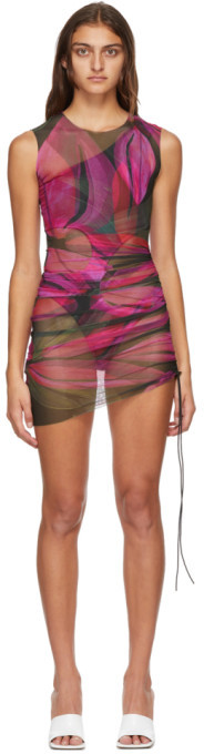 Louisa Ballou SSENSE Exclusive Pink Heatwave Ruched Dress