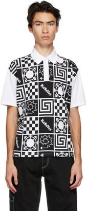 Rassvet Black and White Logo Pattern Polo