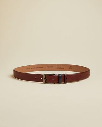 Ted Baker Brogue Detail Leather Belt