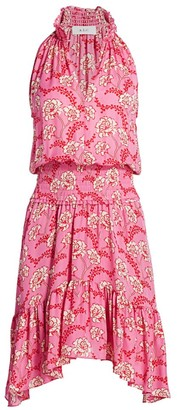 A.L.C. Cody Floral Smocked Waist Dress