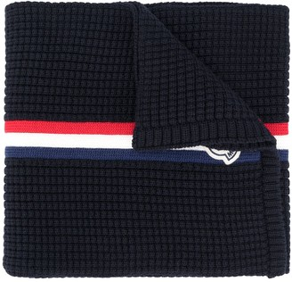Moncler Web Detail Knitted Scarf