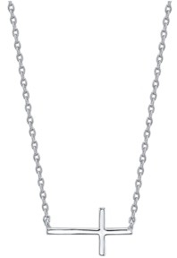 Unwritten Thin East West Cross Station Necklace