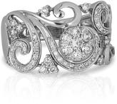 Effy Jewelry Pave Classica 14K White Gold Diamond Filigree Ring
