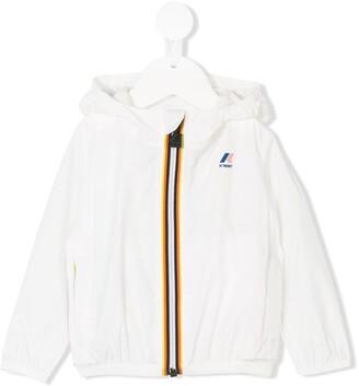 K Way Kids Striped Trim Hooded Jacket