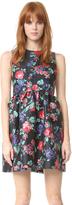 MSGM Metallic Floral Dress
