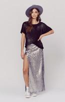 Blue Life sequin slit skirt