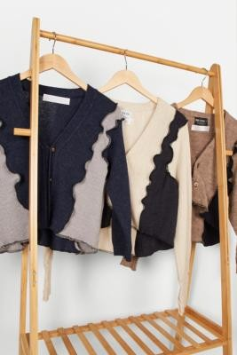 Urban Renewal Vintage Remade From Vintage Lettuce-Edge Cardigan - Assorted M/L at Urban Outfitters