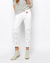 Maison Scotch Billie Straight Leg Jeans with Mesh Inserts