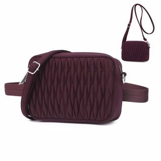 Wind Took Womens Crossbody Bag Messenger Shoulder Bag Fanny Pack Belt Bag 2 in 1 Multifunctional Bag