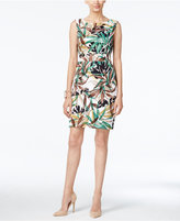 Connected Floral-Print Tiered Sheath Dress