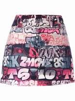 Giamba printed mini skirt