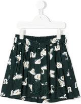 Stella McCartney swan print pleated skirt