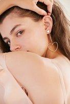 Urban Outfitters Billie Rhinestone Heart Drop Earring
