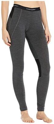 Icebreaker 260 Zone Merino Base Layer Leggings (Jet Heather/Black) Women's Casual Pants