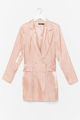 Nasty Gal Womens Cool Down Shimmer Blazer Dress - Orange - 6