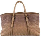 Bottega Veneta Ombré Intrecciato Woven Handle Bag