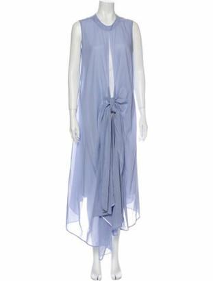 ADEAM Crew Neck Long Dress w/ Tags Blue
