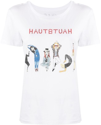 Unfortunate Portrait Haute Yoga-print cotton T-shirt