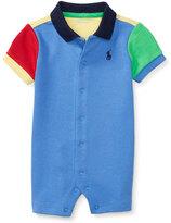 Ralph Lauren Colorblock Jersey Polo Shortall, Regal Blue, Size 3-18 Months