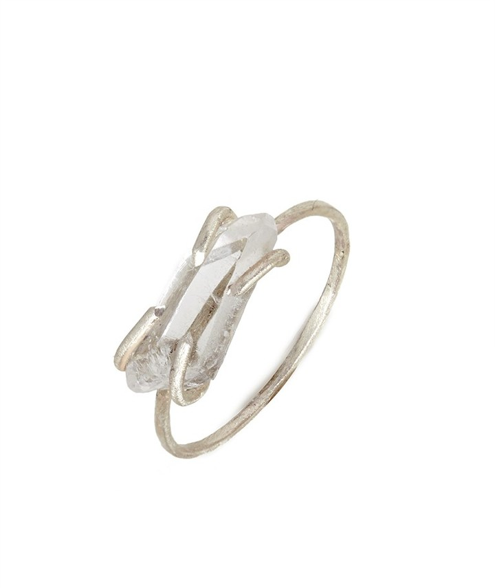 BaubleBar Sterling Silver Quartz Shard Ring