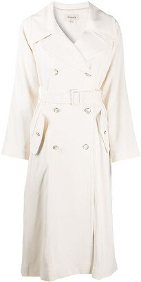 Temperley London Double-Breasted Belted Trench Coat